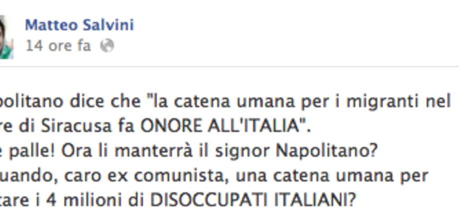 Il leghista Salvini critica i bagnanti siciliani per l'aiuto ai immigrati