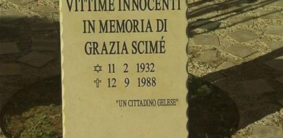 Anonimo depone lapide commemorativa per Grazia Scimè, casalinga innocente uccisa dalla mafia