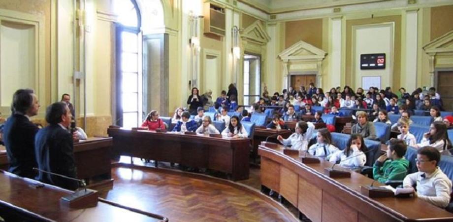 Una speciale riunione a Palazzo del Carmine con i bambini della Leonardo Sciascia