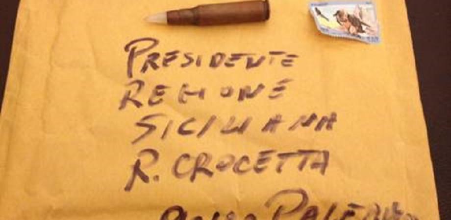 Proiettili per il presidente Crocetta recapitati in una busta a Palazzo d'Orleans