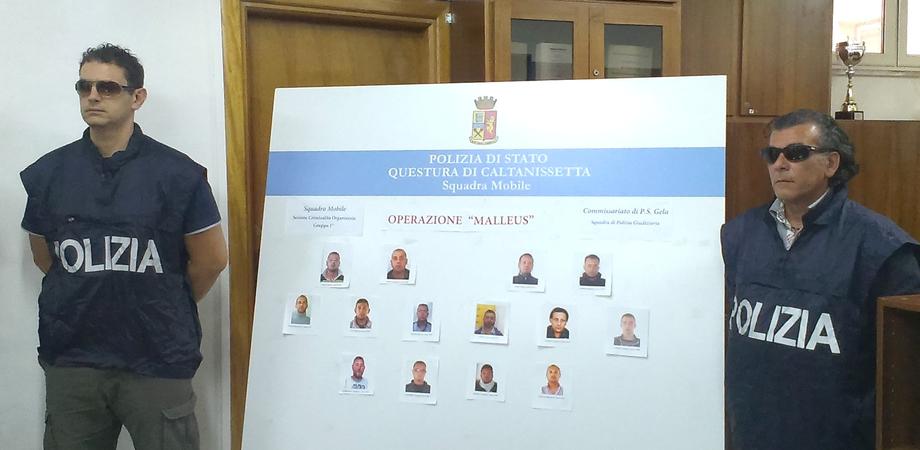 """Mafia, operazione """"Malleus"""" nel Nisseno: 17 arresti. Il clan Rinzivillo gestiva il traffico di droga. NOMI FOTO e VIDEO"""