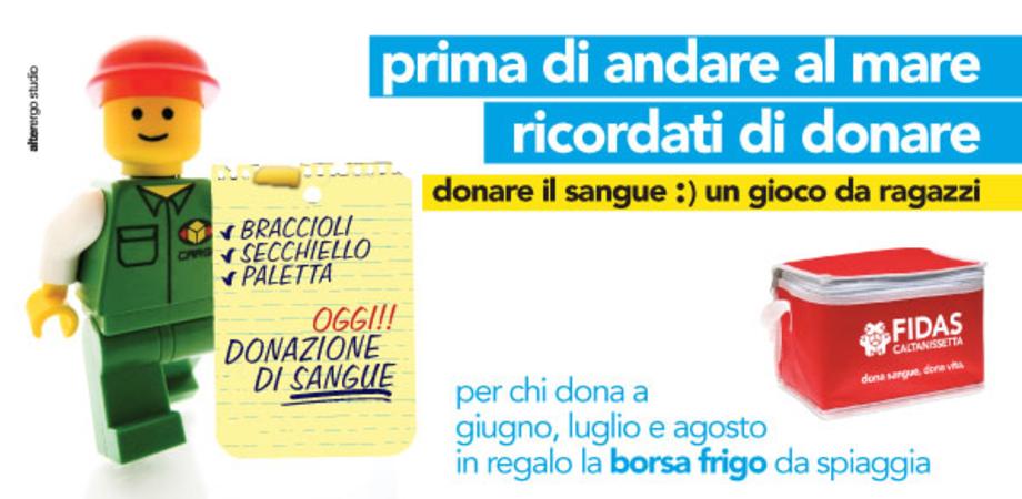 """""""Prima di andare al mare vai a donare"""". Fidas Caltanissetta avvia campagna per la raccolta del sangue"""