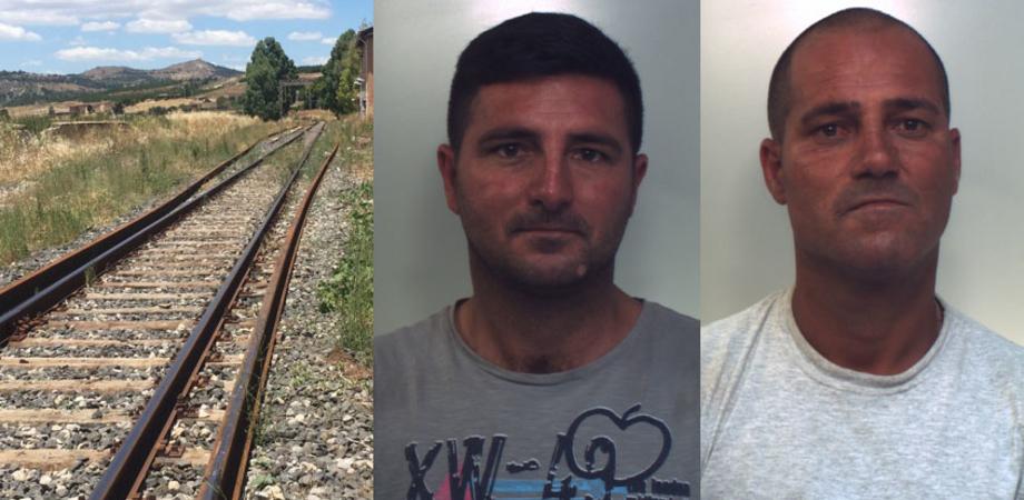 Ladri sui binari in provincia di Caltanissetta, svitate le rotaie. In manette due fratelli per furto di 800 kg di ferro