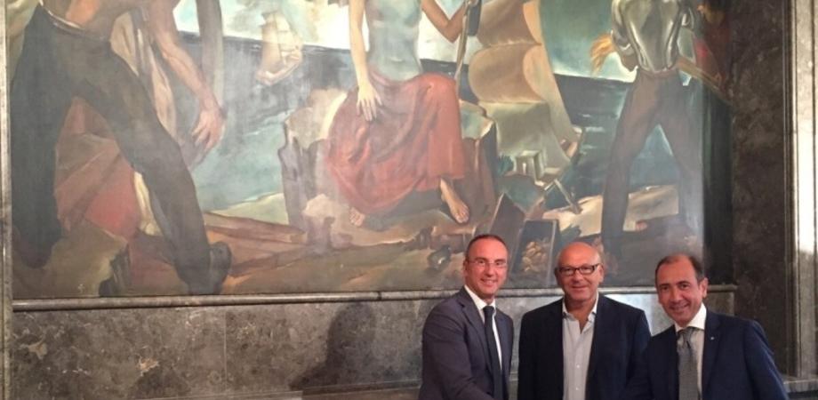 """""""Allegoria d'Italia"""" alla Bcc del Nisseno, via libera alla proroga dell'esposizione dell'antico dipinto"""