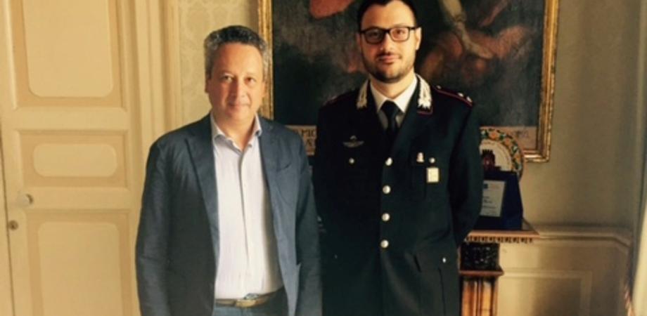 """""""Grazie per l'impegno dei carabinieri a Caltanissetta"""". Il sindaco saluta il maggiore Dente trasferito nel Lazio"""