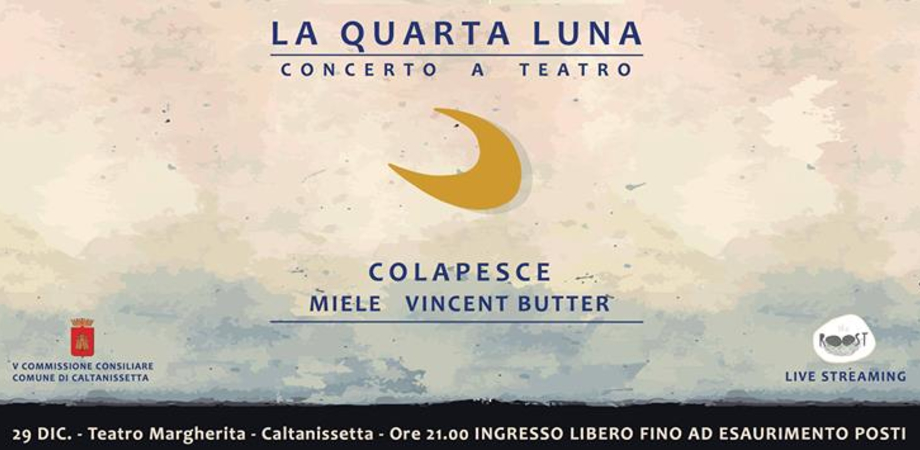 """""""La Quarta Luna"""": al Margherita il concerto di Miele, Colapesce e Butter"""