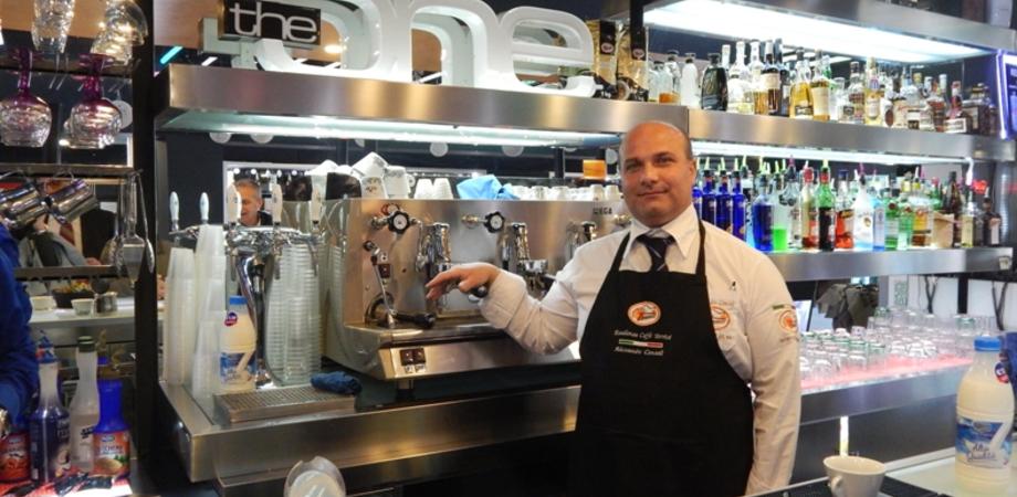 Alessandro Consoli al Corona Wine Bar: scopri il cappuccino preparato con arte