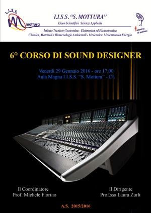 Corso di sound designer al mottura sar presentata la for Corso di designer