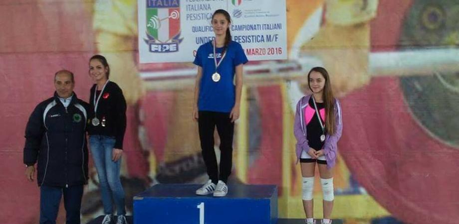 """Pesistisca under 17, ottima prova per le atlete """"Best Gym"""". Oro per Carmen Iacona"""