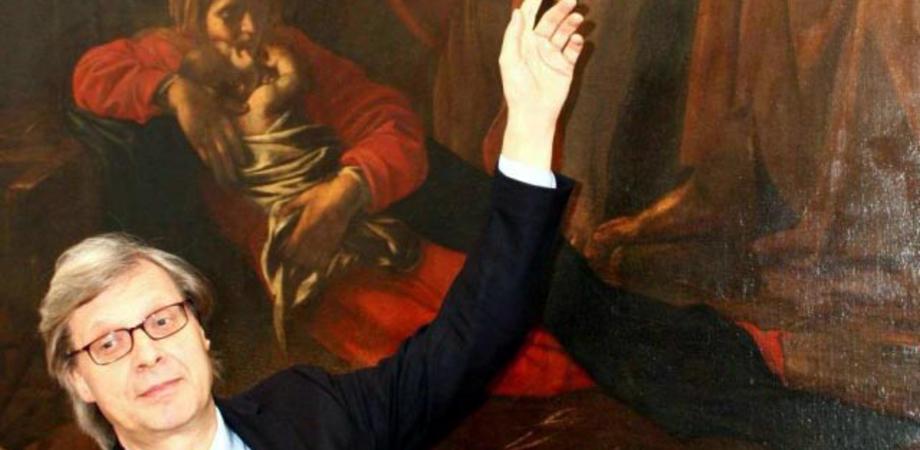 """""""Dal cielo alla terra"""", Vittorio Sgarbi a Gela presenta il suo libro sui capolavori d'arte"""