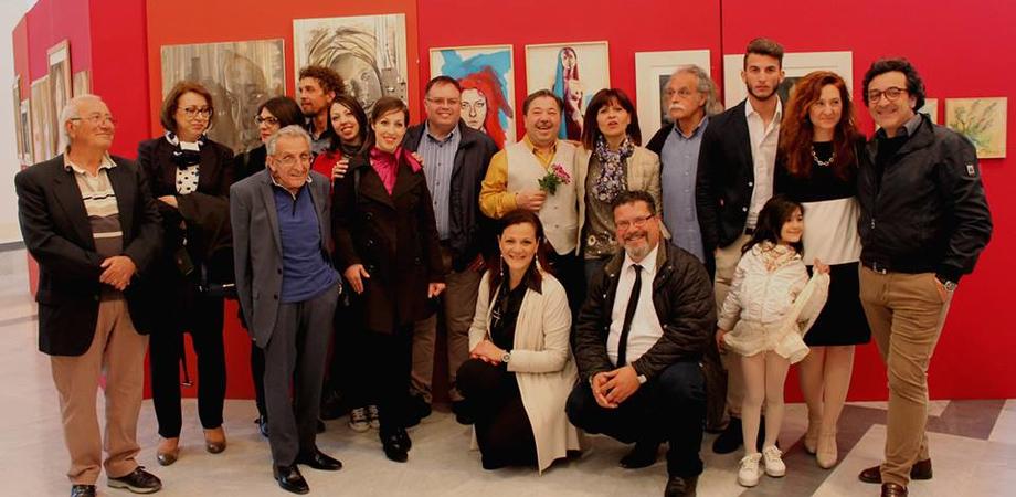 """""""Ritratti 2"""", successo per la mostra a Palazzo Moncada. Tanti artisti espositori da tutta Italia"""