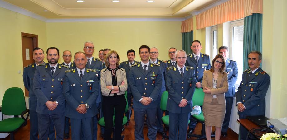 """""""Sempre alta l'attenzione alla sicurezza dei cittadini"""". Il prefetto di Caltanissetta in visita alla Guardia di Finanza"""