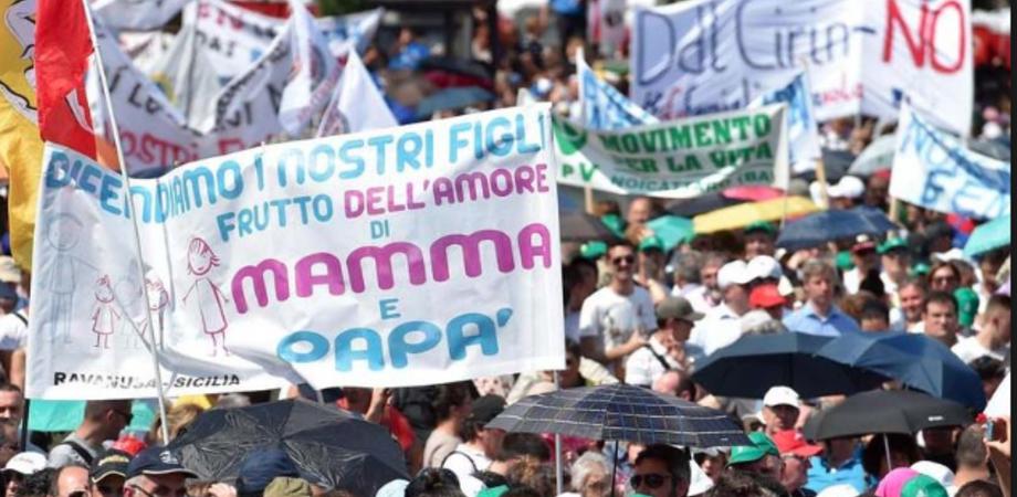 """Sabato a Palermo la """"Marcia per la vita e la famiglia"""". Tanti nisseni sfileranno contro le unioni civili"""
