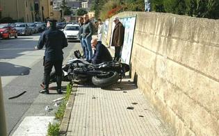 Caltanissetta, incidente in via De Cosmi: centauro finisce in ospedale con un politrauma