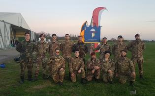 Caltanissetta, ventesimo corso di paracadutismo dell'A.N.P.d'I.: in 9 si lanciano tra i cieli di Reggio Emilia
