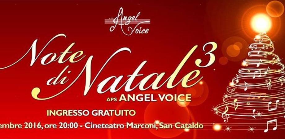 """San Cataldo, al Marconi la terza edizione del concerto """"Note di Natale"""" dell'associazione Angel Voice"""