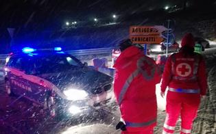 Caltanissetta, Croce Rossa: oltre 50 gli interventi, bevande calde e coperte agli automobilisti