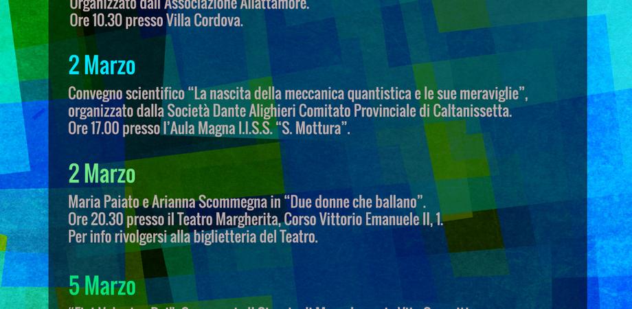 Caltanissetta, eventi in città fino al 5 marzo: ecco la locandina della Pro Loco