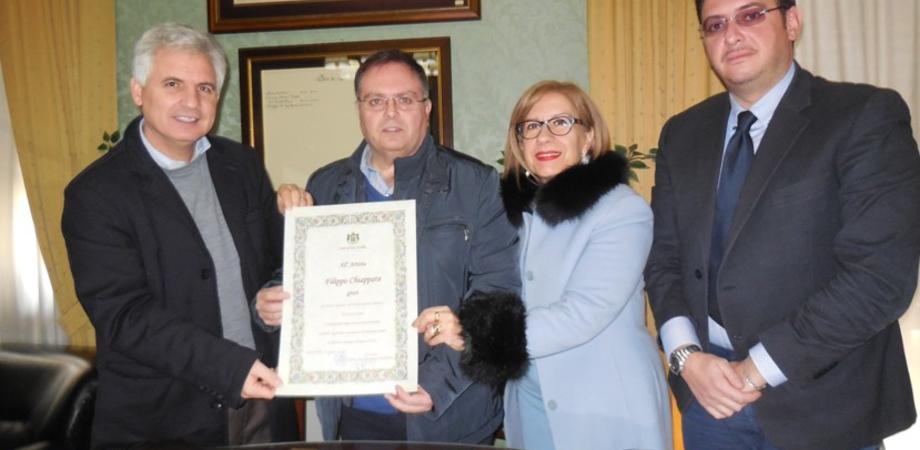 San Cataldo, attestato di merito per Filippo Chiappara: artista dalle grandi qualità umane