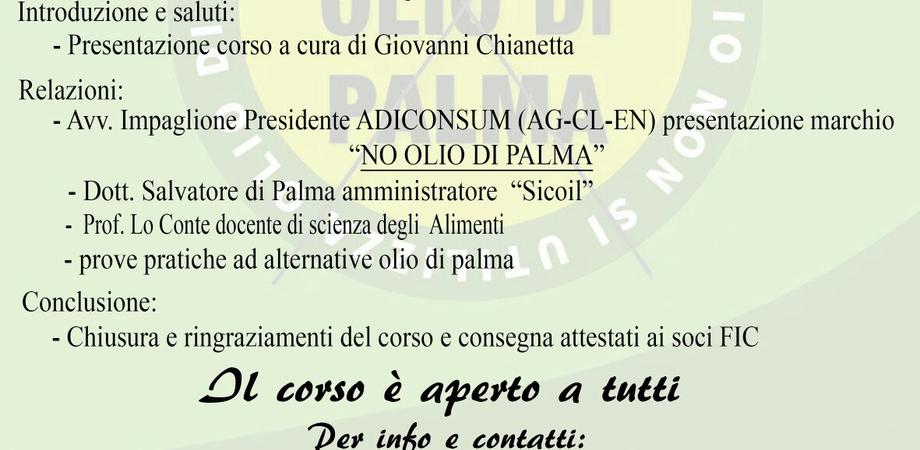 """Caltanissetta, """"No olio di palma"""": all'istituto alberghiero un corso sull'utilizzo di oli alternativi"""