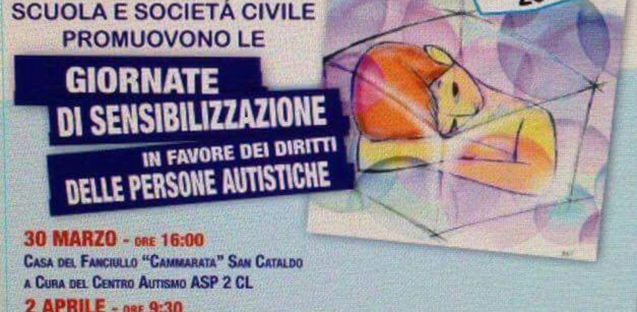 """""""Giornata mondiale dell'autismo"""", quattro appuntamenti tra Caltanissetta e San Cataldo"""