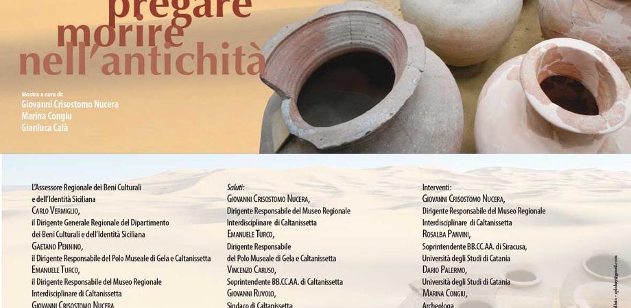 """Caltanissetta, """"Abitare, pregare e morire nell'antichità"""": mostra al museo archeologico"""