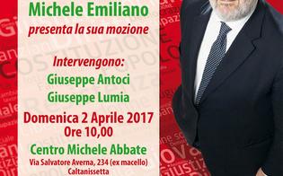 Il candidato alla segreteria del Pd Michele Emiliano farà tappa a Caltanissetta