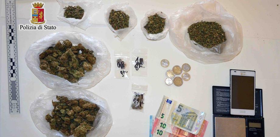 Caltanissetta, sorpreso con 131 grammi di marijuana: arrestato 19enne nisseno