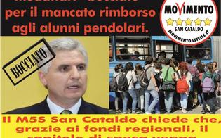 San Cataldo, il M5S sul rimborso agli alunni pendolari: