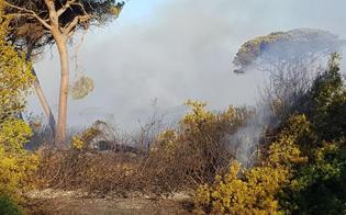 Sorpresi dai carabinieri mentre appiccavano le fiamme a un bosco:
