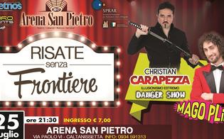 Caltanissetta, all'Arena San Pietro show di magia con Christian Carapezza e il mago Plip