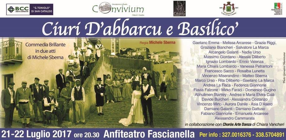 """All'anfiteatro Fascianella di San Cataldo di scena """"Ciuri d'abbarcu e basilicò"""""""
