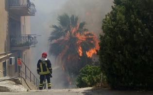 Cinque ettari di macchia mediterranea in fumo a Sciacca: due 14enni i responsabili