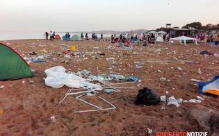 Tende distrutte e immondizia ovunque: il triste buongiorno delle coste agrigentine