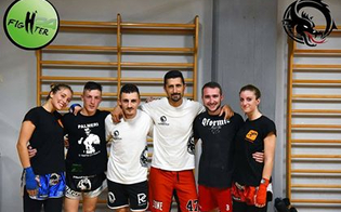 Quattro atleti della Dragon Gym sul ring del Real Sicily Figheter