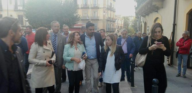 Giorgia Meloni a Caltanissetta: