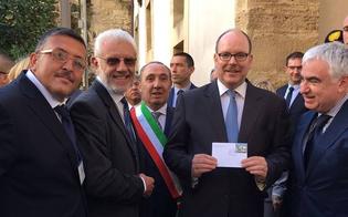Il principe Alberto di Monaco a Mazzarino, per lui bollo filatelico speciale
