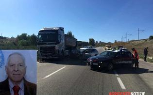 Incidente sulla Agrigento-Palermo, muore 76enne di Milena