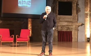 Mogol testimonial della terza edizione del Salus Festival inaugurato al Teatro Rosso di San Secondo