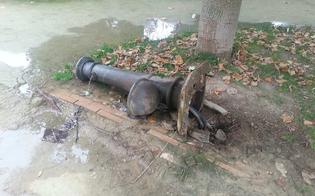 Caltanissetta, vandali alla villa Amedeo: devastano una fontanella e una vasca