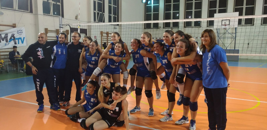 La Nike San Cataldo vince il match contro il Volley Gela e vola in testa alla classifica