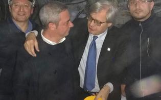 L'onorevole Mancuso in visita con l'assessore Sgarbi alle miniere di sale di Regalpetra