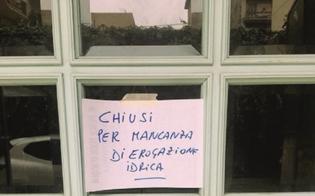L'acqua non arriva: a Caltanissetta locali costretti a chiudere