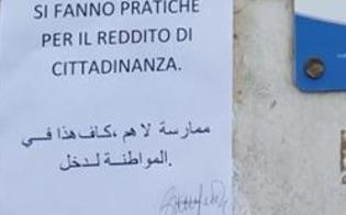 """""""Non facciamo pratiche per il reddito di cittadinanza"""", ecco il cartello esposto da un patronato preso d'assalto da molti richiedenti il reddito"""