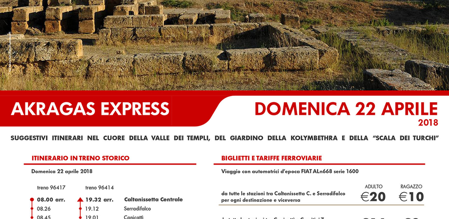"""Treno storico e """"Archeotrekking"""": da Caltanissetta a Canicattì parte un nuovo treno storico"""