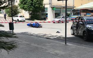 Caltanissetta, scontro tra auto e moto in via Turati: grave un 27enne