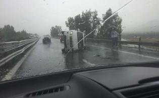 Incidente autonomo sulla Palermo-Catania: auto si ribalta, ferito un 35enne