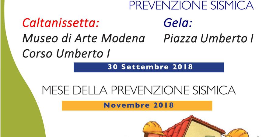 A Caltanissetta la I Giornata Nazionale della Prevenzione Sismica