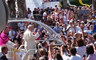 """Il Papa in Sicilia: """"Non si può credere in Dio ed essere mafiosi"""""""