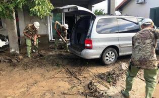 Alluvioni e maltempo: in provincia di Catania i militari della brigata